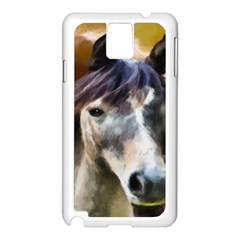 Horse Horse Portrait Animal Samsung Galaxy Note 3 N9005 Case (White)