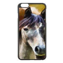 Horse Horse Portrait Animal Apple Iphone 6 Plus/6s Plus Black Enamel Case