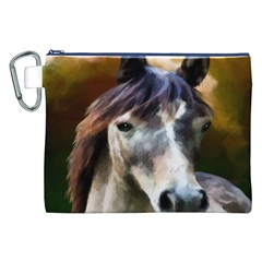 Horse Horse Portrait Animal Canvas Cosmetic Bag (XXL)