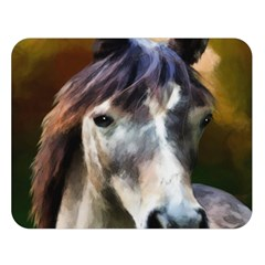 Horse Horse Portrait Animal Double Sided Flano Blanket (Large)