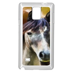 Horse Horse Portrait Animal Samsung Galaxy Note 4 Case (White)
