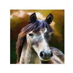 Horse Horse Portrait Animal Small Satin Scarf (Square)