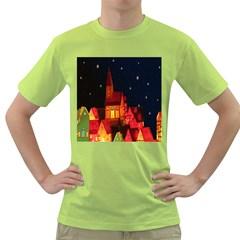 Market Christmas Light Green T-Shirt