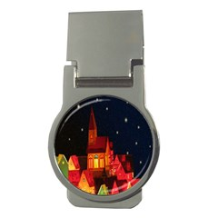 Market Christmas Light Money Clips (Round)