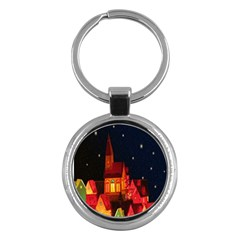 Market Christmas Light Key Chains (round)