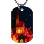 Market Christmas Light Dog Tag (One Side) Front