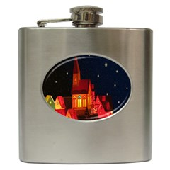 Market Christmas Light Hip Flask (6 oz)