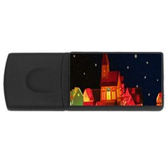 Market Christmas Light USB Flash Drive Rectangular (1 GB)