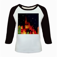 Market Christmas Light Kids Baseball Jerseys