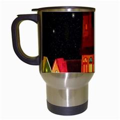 Market Christmas Light Travel Mugs (white)