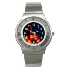 Market Christmas Light Stainless Steel Watch