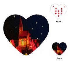 Market Christmas Light Playing Cards (Heart)