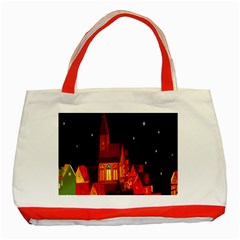 Market Christmas Light Classic Tote Bag (Red)