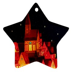 Market Christmas Light Star Ornament (Two Sides)