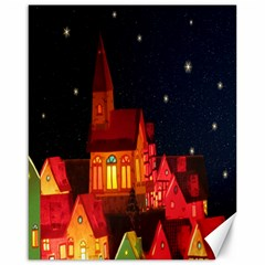 Market Christmas Light Canvas 16  X 20