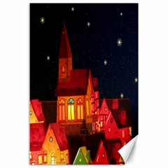 Market Christmas Light Canvas 24  x 36