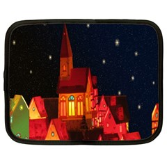 Market Christmas Light Netbook Case (XL)