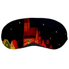 Market Christmas Light Sleeping Masks