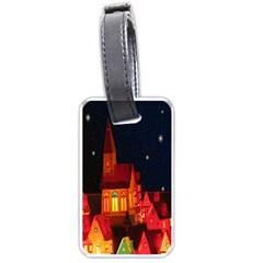 Market Christmas Light Luggage Tags (Two Sides)