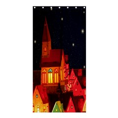 Market Christmas Light Shower Curtain 36  x 72  (Stall)