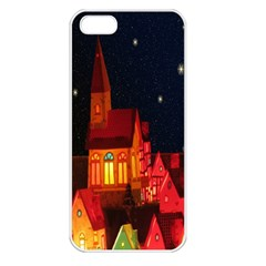 Market Christmas Light Apple Iphone 5 Seamless Case (white)