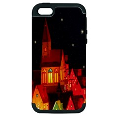 Market Christmas Light Apple Iphone 5 Hardshell Case (pc+silicone)