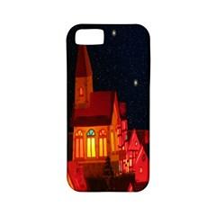Market Christmas Light Apple Iphone 5 Classic Hardshell Case (pc+silicone)