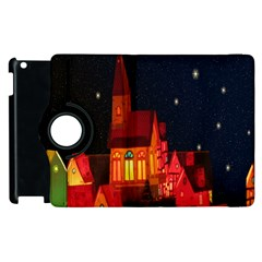 Market Christmas Light Apple Ipad 3/4 Flip 360 Case