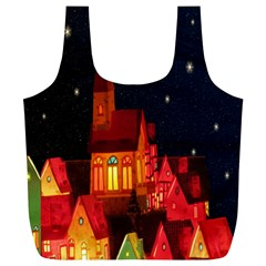 Market Christmas Light Full Print Recycle Bags (l)