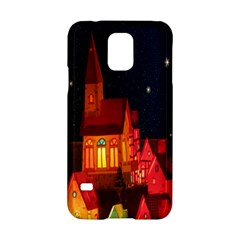 Market Christmas Light Samsung Galaxy S5 Hardshell Case