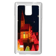Market Christmas Light Samsung Galaxy Note 4 Case (white)