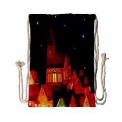Market Christmas Light Drawstring Bag (small)