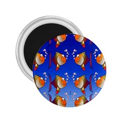 Illustration Fish Pattern 2 25  Magnets