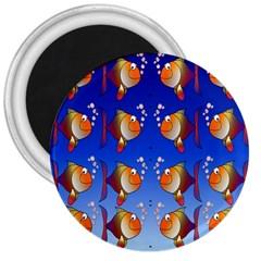 Illustration Fish Pattern 3  Magnets