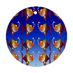 Illustration Fish Pattern Ornament (round)