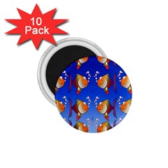 Illustration Fish Pattern 1.75  Magnets (10 pack)