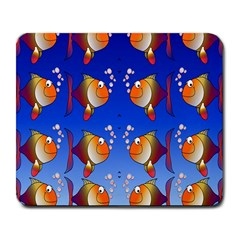 Illustration Fish Pattern Large Mousepads