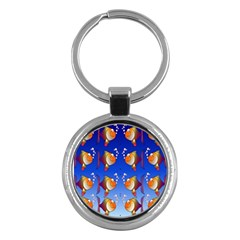 Illustration Fish Pattern Key Chains (Round)