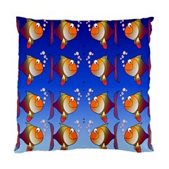 Illustration Fish Pattern Standard Cushion Case (two Sides)