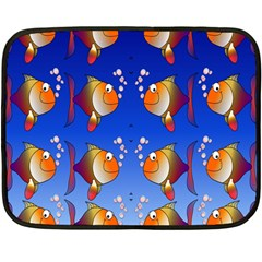 Illustration Fish Pattern Fleece Blanket (Mini)
