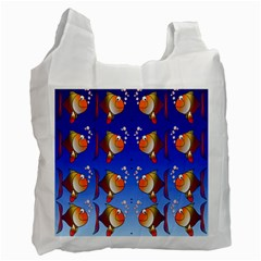 Illustration Fish Pattern Recycle Bag (one Side)