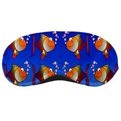 Illustration Fish Pattern Sleeping Masks