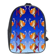 Illustration Fish Pattern School Bags(Large)