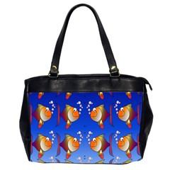 Illustration Fish Pattern Office Handbags (2 Sides)