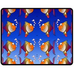 Illustration Fish Pattern Fleece Blanket (Medium)