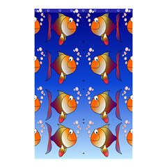 Illustration Fish Pattern Shower Curtain 48  X 72  (small)