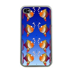 Illustration Fish Pattern Apple Iphone 4 Case (clear)
