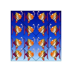 Illustration Fish Pattern Acrylic Tangram Puzzle (4  X 4 )