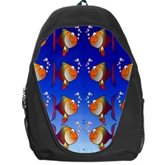 Illustration Fish Pattern Backpack Bag