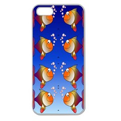 Illustration Fish Pattern Apple Seamless Iphone 5 Case (clear)